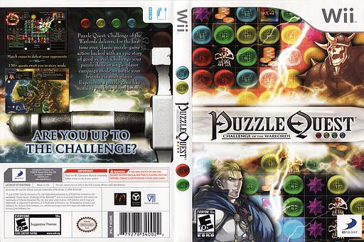 Puzzle Quest: Challenge of the Warlords Wii cover (RQWEG9)