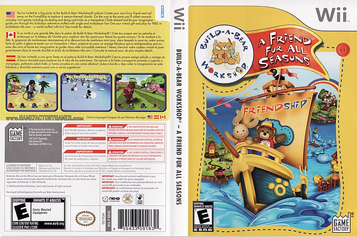 Build-A-Bear Workshop: A Friend Fur All Seasons Wii cover (RR4EGY)