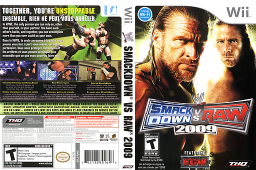 WWE SmackDown vs. Raw 2009 Wii cover (RR9E78)