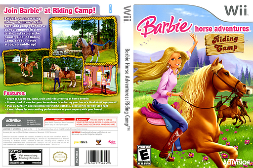 Barbie Horse Adventures: Riding Camp Wii cover (RRCE52)
