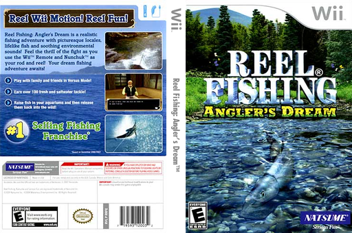 Reel Fishing: Angler's Dream Wii cover (RRFEE9)