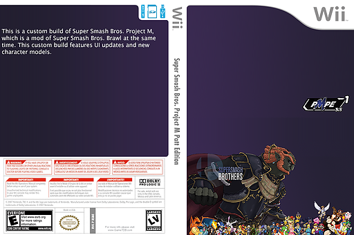 Super Smash Bros. Project M Patt Edition CUSTOM cover (RSBE05)