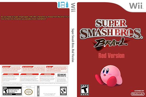 Super Smash Bros. Red Version CUSTOM cover (RSBE25)