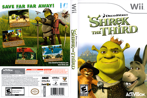 Shrek The Third Wii cover (RSKE52)