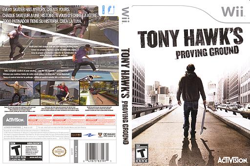 Tony Hawk's Proving Ground Wii cover (RT9E52)