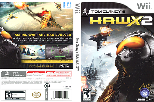 Tom Clancy's H.A.W.X. 2 Wii cover (RTAE41)