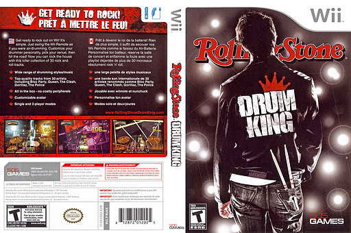 Rolling Stone: Drum King Wii cover (RUKEGT)