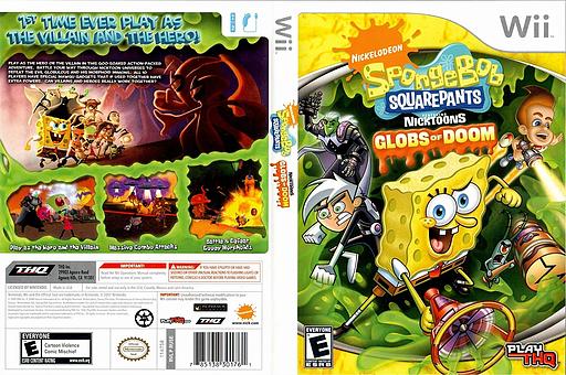 SpongeBob SquarePants featuring Nicktoons: Globs of Doom Wii cover (RUSE78)