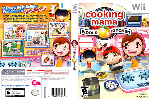 Cooking Mama: World Kitchen Wii cover (RWKE5G)