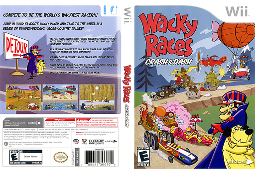 Wacky Races: Crash & Dash Wii cover (RWRE4F)