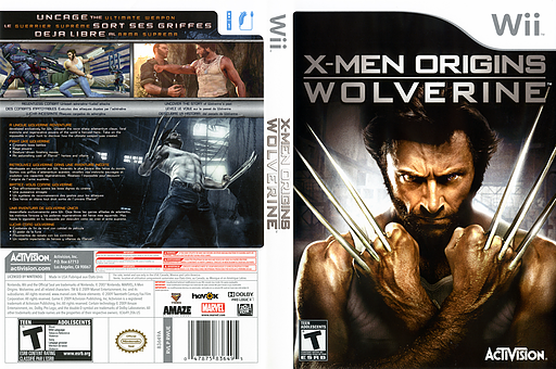 X-Men Origins: Wolverine Wii cover (RWUE52)