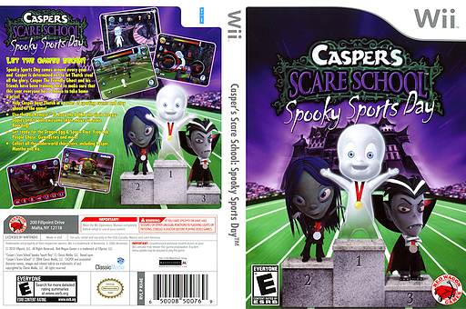 Casper's Scare School: Spooky Sports Day Wii cover (RX4E4Z)