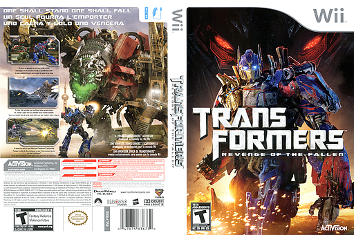 Transformers: Revenge of the Fallen Wii cover (RXIE52)