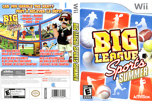 Big League Sports: Summer Wii cover (RY5E52)