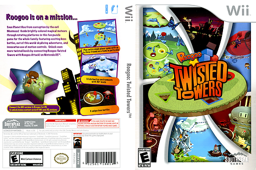 Roogoo: Twisted Towers Wii cover (RYHES5)
