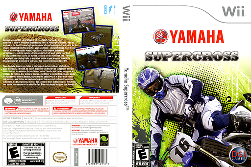 Yamaha Supercross Wii cover (RYXE20)