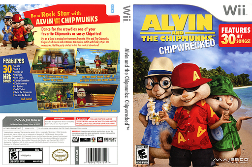 Alvin and the Chipmunks: Chipwrecked Wii cover (SA3E5G)
