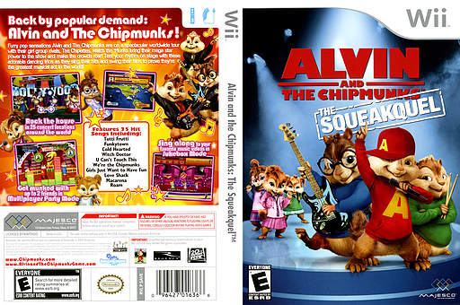 Alvin and the Chipmunks: The Squeakquel Wii cover (SAVE5G)