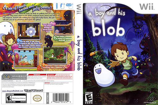 A Boy and His Blob Wii cover (SBLE5G)