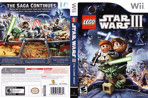 LEGO Star Wars III:The Clone Wars Wii cover (SC4E64)