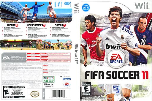 FIFA Soccer 11 Wii cover (SELE69)