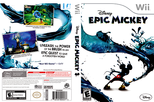Disney Epic Mickey Wii cover (SEME4Q)
