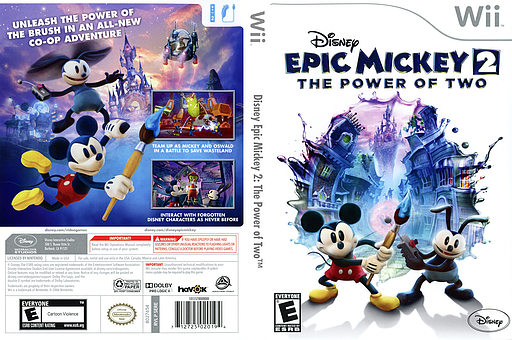 Disney Epic Mickey 2: The Power of Two Wii cover (SERE4Q)