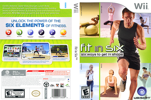 Fit in Six Wii cover (SF5E41)