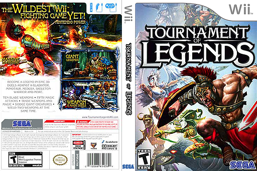 Tournament of Legends Wii cover (SGAE8P)