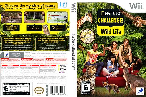 Nat Geo Challenge! Wild Life Wii cover (SGEEG9)