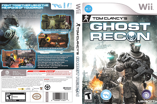 Tom Clancy's Ghost Recon Wii cover (SGHE41)
