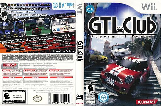 GTI Club Supermini Festa! Wii cover (SGIEA4)