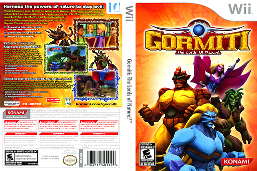 Gormiti: The Lords of Nature! Wii cover (SGLEA4)