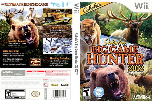 NTSC-U - [Wii] Cabela's Big Game Hunter 2012 [NTSC][Ingles]