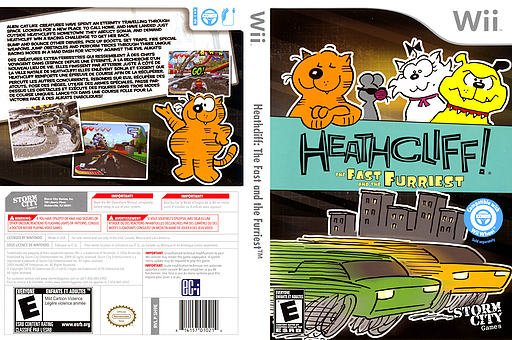 Heathcliff: The Fast and the Furriest Wii cover (SH9ESZ)
