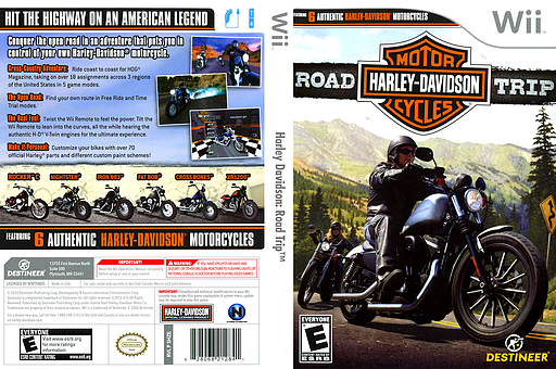 Harley Davidson: Road Trip Wii cover (SHZENR)