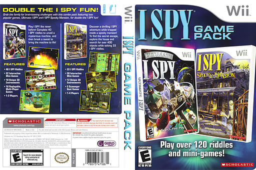 I SPY Game Pack Wii cover (SIPE7T)