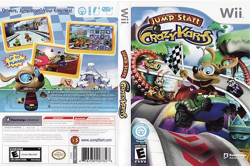 JumpStart Crazy Karts Wii cover (SJKEPK)