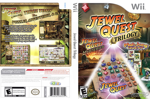 Jewel Quest Trilogy Wii cover (SJQEPZ)