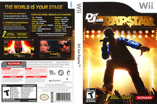 Def Jam Rapstar Wii cover (SJREA4)