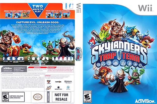 Skylanders: Trap Team Wii cover (SK8E52)