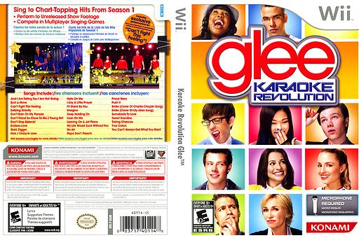 Karaoke Revolution Glee Wii cover (SKAEA4)
