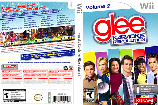 Karaoke Revolution Glee Volume 2 Wii cover (SKGEA4)