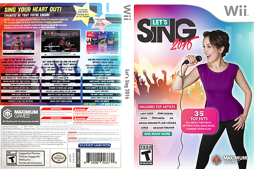 Let's Sing 2016 Wii cover (SLGEYG)