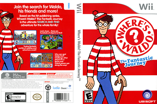 Where's Waldo? The Fantastic Journey Wii cover (SLWE41)