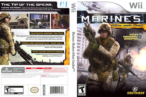 Marines: Modern Urban Combat Wii cover (SMAENR)