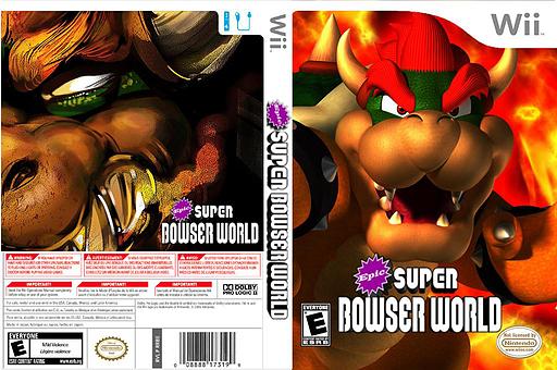 Epic Super Bowser World CUSTOM cover (SMNE08)