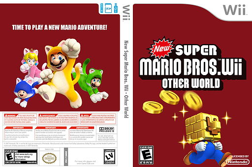 New Super Mario Bros. Wii - Other World CUSTOM cover (SMNE31)