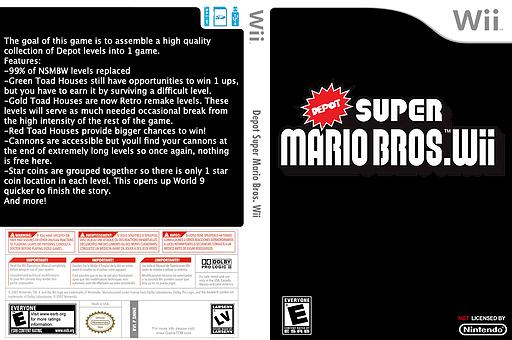 Depot Super Mario Bros. Wii CUSTOM cover (SMNEZW)