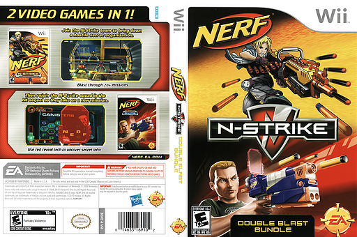 NERF N-Strike Double Blast Bundle Wii cover (SN2E69)